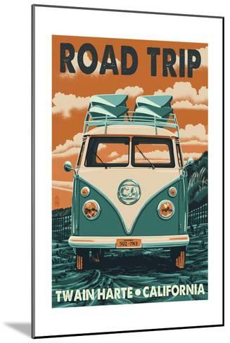 Twain Harte, California - VW Van-Lantern Press-Mounted Art Print