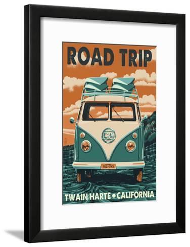 Twain Harte, California - VW Van-Lantern Press-Framed Art Print