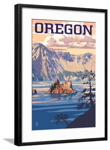 Oregon - Crater Lake-Lantern Press-Framed Art Print