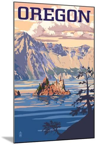 Oregon - Crater Lake-Lantern Press-Mounted Art Print