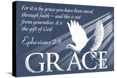Ephesians 2:8 - Inspirational-Lantern Press-Stretched Canvas Print