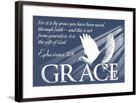 Ephesians 2:8 - Inspirational-Lantern Press-Framed Art Print