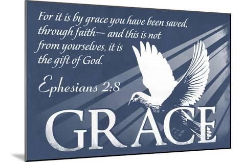 Ephesians 2:8 - Inspirational-Lantern Press-Mounted Art Print