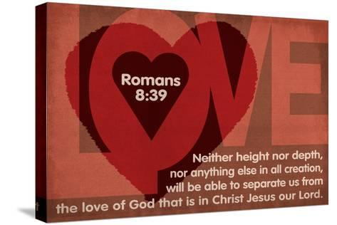 Romans 8:39 - Inspirational-Lantern Press-Stretched Canvas Print