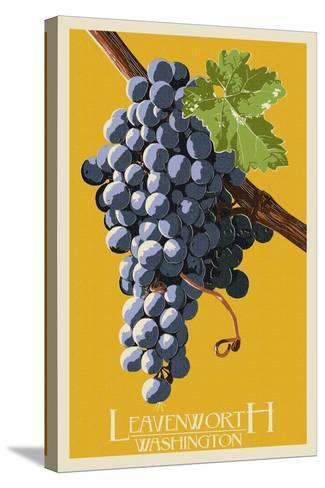 Leavenworth, Washington - Wine Grapes-Lantern Press-Stretched Canvas Print