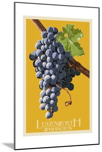 Leavenworth, Washington - Wine Grapes-Lantern Press-Mounted Art Print