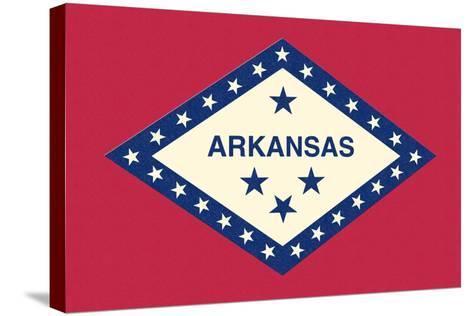 Arkansas State Flag-Lantern Press-Stretched Canvas Print