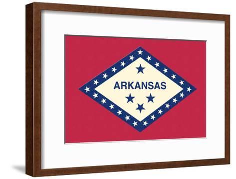 Arkansas State Flag-Lantern Press-Framed Art Print