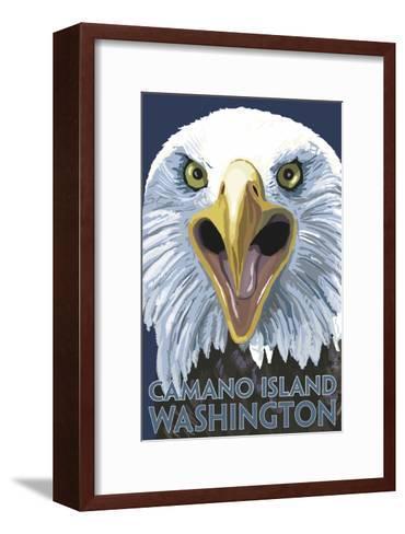 Camano Island, Washington - Eagle Up Close-Lantern Press-Framed Art Print