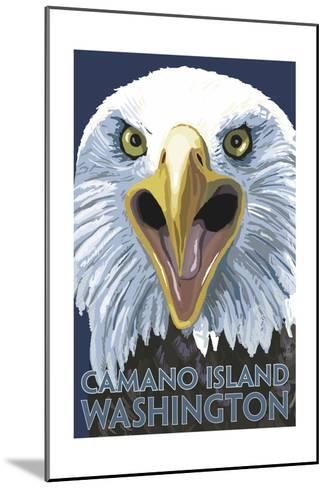 Camano Island, Washington - Eagle Up Close-Lantern Press-Mounted Art Print