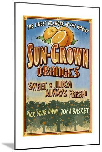 Orange Orchard - Vintage Sign-Lantern Press-Mounted Art Print