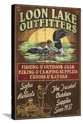 Loon Outfitters - Vintage Sign-Lantern Press-Stretched Canvas Print