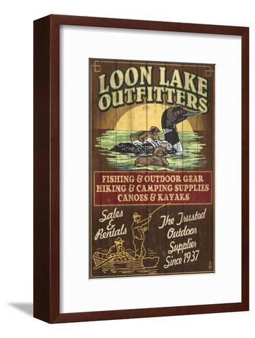 Loon Outfitters - Vintage Sign-Lantern Press-Framed Art Print