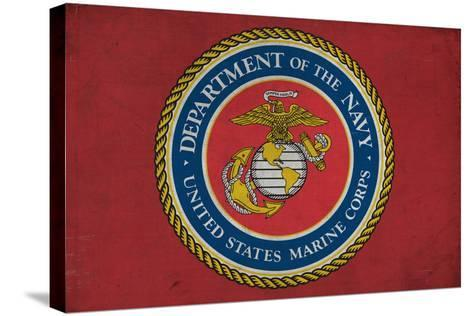 Department of the Marine Corps - Military - Insignia-Lantern Press-Stretched Canvas Print