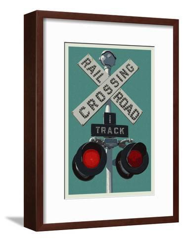 Railroad Crossing-Lantern Press-Framed Art Print