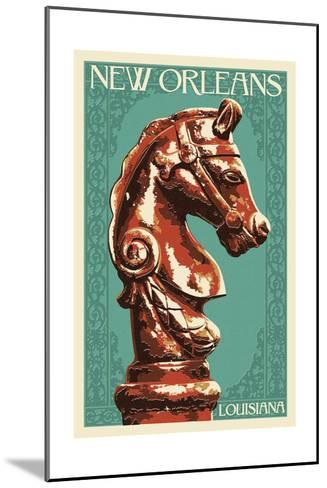 Horse Head Hitch - New Orleans, Louisiana-Lantern Press-Mounted Art Print