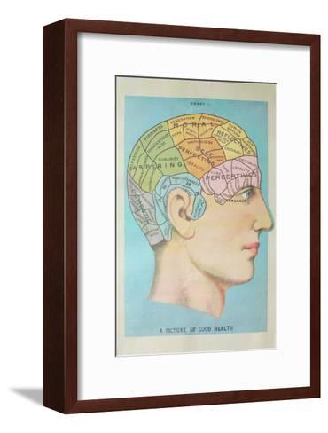 A Picture of Good Health - Vintage Cognitive Science Lithograph-Lantern Press-Framed Art Print