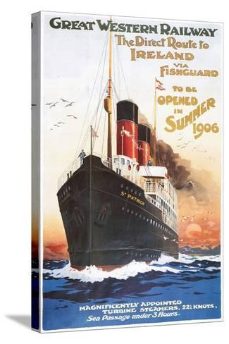 Great Western Railway - Steamship - Vintage Poster-Lantern Press-Stretched Canvas Print