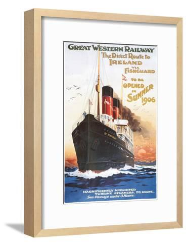 Great Western Railway - Steamship - Vintage Poster-Lantern Press-Framed Art Print
