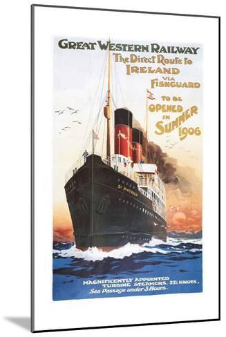 Great Western Railway - Steamship - Vintage Poster-Lantern Press-Mounted Art Print