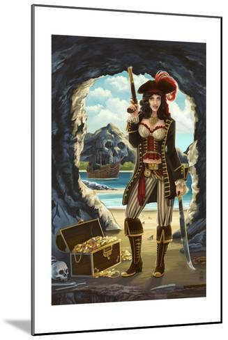 Pirate Pinup Girl-Lantern Press-Mounted Art Print