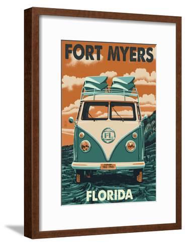 Fort Myers, Florida - VW Van-Lantern Press-Framed Art Print