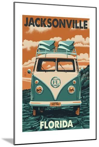 Jacksonville, Florida - VW Van-Lantern Press-Mounted Art Print