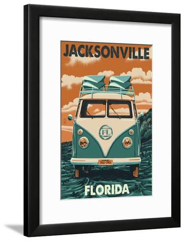 Jacksonville, Florida - VW Van-Lantern Press-Framed Art Print