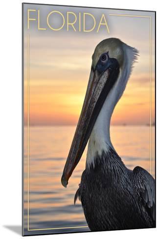 Florida - Pelican-Lantern Press-Mounted Art Print