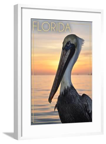 Florida - Pelican-Lantern Press-Framed Art Print