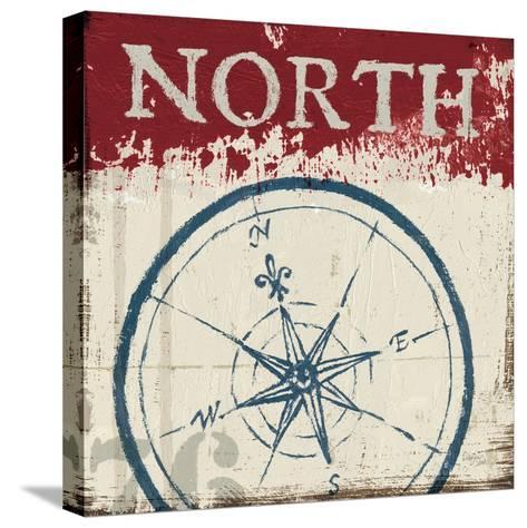 Nautical I Red-Jim Wellington-Stretched Canvas Print