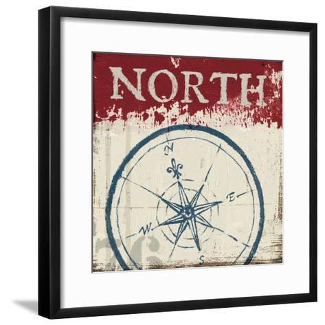 Nautical I Red-Jim Wellington-Framed Art Print