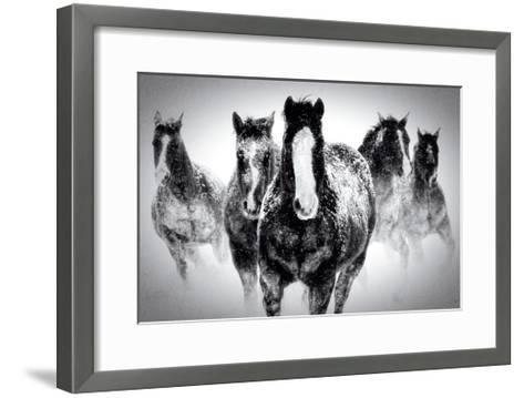 Winter Rumble-Deb Lee Carson-Framed Art Print