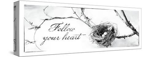 Nest and Branch III Follow Your Heart-Debra Van Swearingen-Stretched Canvas Print