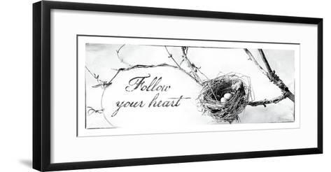 Nest and Branch III Follow Your Heart-Debra Van Swearingen-Framed Art Print