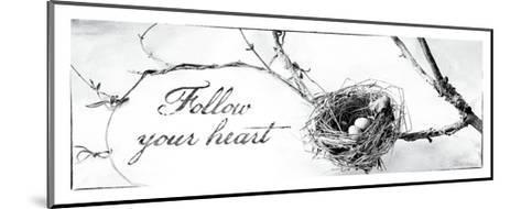 Nest and Branch III Follow Your Heart-Debra Van Swearingen-Mounted Premium Giclee Print