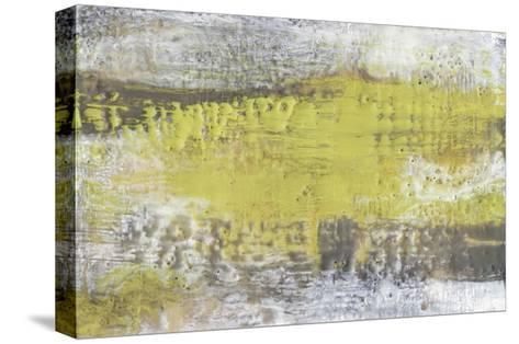 Yellow and Grey Serenity I-Jennifer Goldberger-Stretched Canvas Print