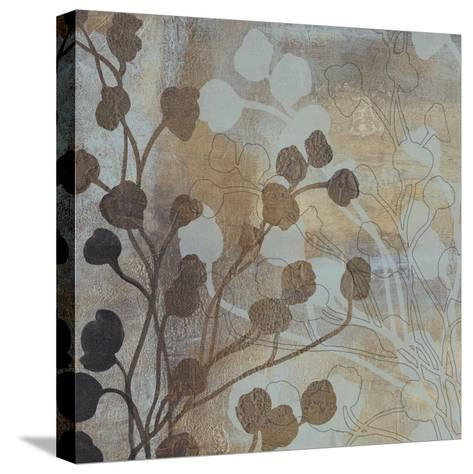 Spa Blue and Gold I-Tim O'toole-Stretched Canvas Print