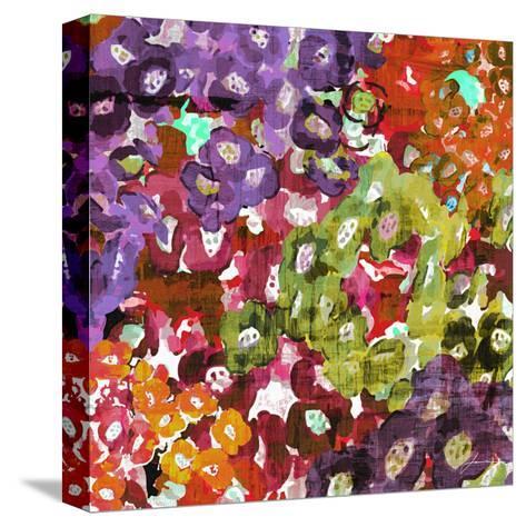 Floral Barrage I-James Burghardt-Stretched Canvas Print