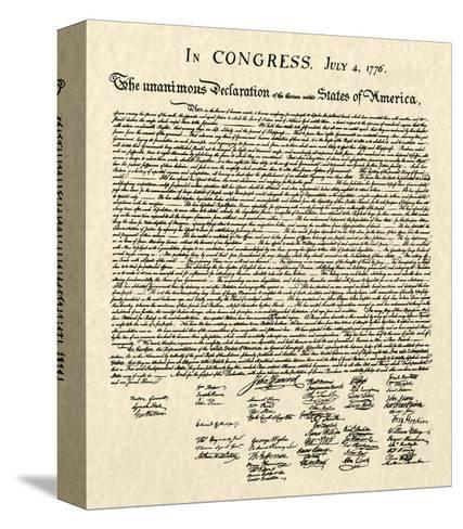 Declaration of Independence Doc.--Stretched Canvas Print