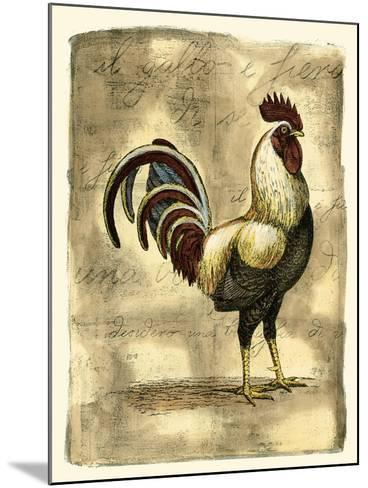 Tuscany Rooster I-D^ Bookman-Mounted Art Print