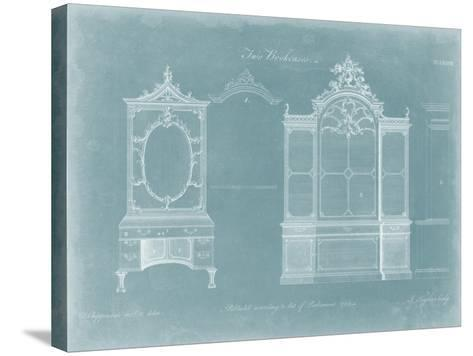Two Bookcases-Thomas Chippendale-Stretched Canvas Print