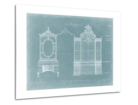 Two Bookcases-Thomas Chippendale-Metal Print