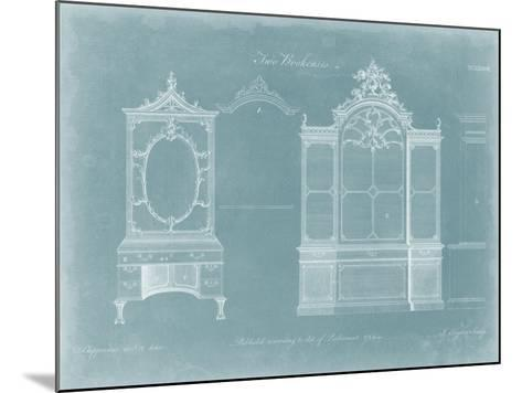 Two Bookcases-Thomas Chippendale-Mounted Art Print