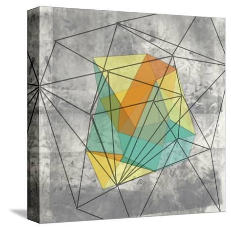 Geomolecule I-Jennifer Goldberger-Stretched Canvas Print