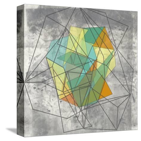 Geomolecule II-Jennifer Goldberger-Stretched Canvas Print