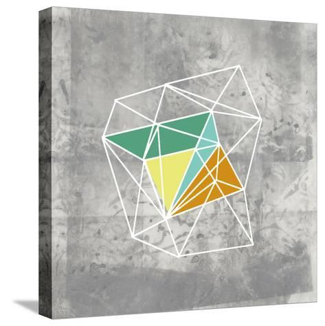 Geomolecule III-Jennifer Goldberger-Stretched Canvas Print