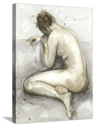Figure in Watercolor II-Megan Meagher-Stretched Canvas Print