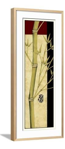 Meditative Bamboo Panel I-Jennifer Goldberger-Framed Art Print