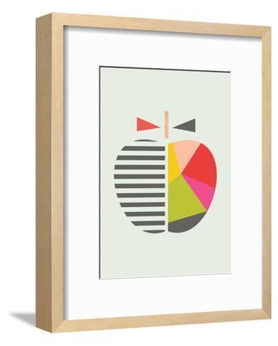 Geometric Apple-Little Design Haus-Framed Art Print